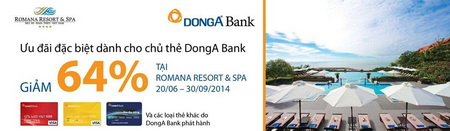 DongA-Bank-khuyen-mai-tai-romana-resort-va-spa