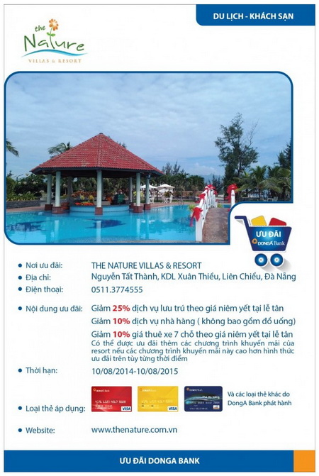DongA-Bank-khuyen-mai-tai-the-nature-villas-resort