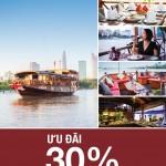 Giảm 30% giá Buffet trên du thuyền Victoria Cruises – Lady Hau dành cho chủ thẻ quốc tế Eximbank