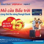 Thanh toán vé máy bay trực tuyến VietjetAir với Thẻ Đa năng DongA Bank giảm ngay 15% giá vé