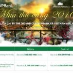 Du lịch cùng VPBank và Vietnam Airline chỉ từ 299.000 VND