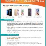 Ưu đãi hoàn tiền 5% cho chủ thẻ tín dụng ABBank tại FPT shop