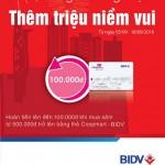 Hoàn tiền lên đến 100.000đ khi mua sắm bằng thẻ BIDV Coopmart
