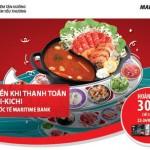 Thỏa sức thưởng thức lẩu băng chuyền, lại được hoàn tiền 30% với thẻ Quốc tế Maritime Bank tại Kichi-Kichi