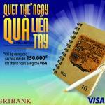 Chuơng trình Xài thẻ ngay - Ưu đãi liền tay dành cho chủ thẻ của Agribank