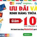 Giảm thêm 10% khi mua hàng tại www.cungmua.com khi thanh toán thông qua hệ thống 123pay dành riêng cho thẻ Eximbank-MasterCard