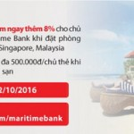 Hoàn tiền 30% với thẻ Quốc tế Maritime Bank khi thanh toán tại Vietnam Airlines và Agoda