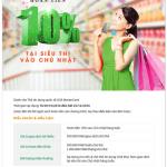Hoàn tiền 10% tại Siêu thị vào Chủ nhật hàng tuần cho Thẻ tín dụng OCB