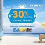 Giảm 30% giá phòng tại Star City Nha Trang cho chủ thẻ MB Sakura