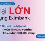 Khuyến mại lớn cùng thẻ tín dụng Eximbank