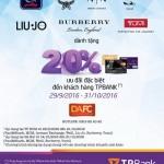 Giảm 20% cho thẻ TPBank các sản phẩm tại sự kiện của DAFC từ 29/9 - 31/10/2016