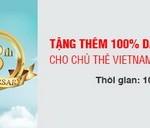 Tặng thêm 100% dặm thưởng bông sen vàng cho chủ thẻ Vietnam Airlines Techcombank Visa