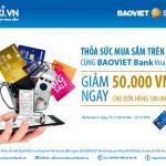 Ưu đãi khi mua sắm trên Tiki.vn với BaoViet Bank Visa