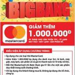 Ưu đãi giảm 1.000.000 đồng tại Nguyễn Kim dành cho chủ thẻ Eximbank-MasterCard