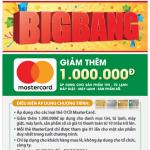 Ưu đãi BigBang giảm thêm 1 triệu cho chủ thẻ OCB MasterCard tại Nguyễn Kim