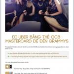 Đi Uber bằng thẻ OCB MasterCard để đến Grammys