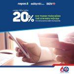 BIDV – Adayroi: Ưu đãi hoàn thêm 20% khi thanh toán bằng ATM nội địa