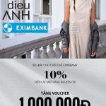 Ưu đãi 10% dành cho chủ thẻ Eximbank tại thời trang Dieu Anh