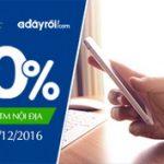 Hoàn 20% giá trị thanh toán cho chủ thẻ GPBank trên Adayroi.com
