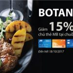 Giảm 15% cho chủ thẻ MB tại chuỗi nhà hàng Botanica