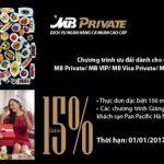 MB Private ưu đãi dành cho khách hàng VIP tại Pan Pacific Hà Nội