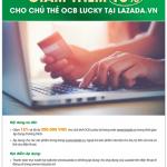 Giảm thêm 15% cho chủ thẻ OCB Lucky tại Lazada