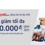 Ưu đãi Vàng khi mua sắm trên Adayroi.com bằng thẻ nội địa SHB