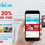 Giảm 20% cho chủ thẻ MB JCB Sakura tại Tiki.vn