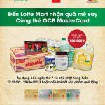 Đến Lotte Mart nhận quà mê say cùng thẻ OCB MasterCard