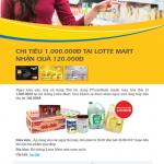 PVcomBank Plentii – Chi tiêu 1.000.000đ tại Lotte Mart nhận quà 120.000đ