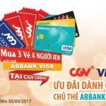 Mua 3 vé, 4 người xem với thẻ ABBank Visa tại CGV Cinema