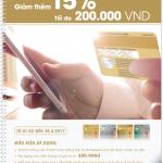 Giảm thêm 15% cho chủ thẻ OCB MasterCard tại Adayroi.com