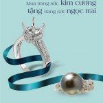 Mua trang sức Kim Cương tặng trang sức Ngọc Trai dành cho khách hàng Eximbank