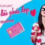 Chiêu đãi phái đẹp tặng thưởng Sacombank Visa Ladies First