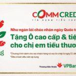 Khối Tín dụng Tiểu thương VPBank tặng ô cao cấp cho khách hàng nữ
