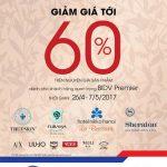 Ưu đãi lên tới 60% từ các Điểm ưu đãi vàng Premier của BIDV