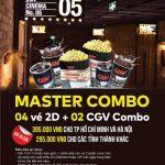 Ưu đãi dành riêng cho chủ thẻ Eximbank-MasterCard tại Hệ thống CGV Cinemas