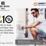 Giảm 10% cho chủ thẻ tín dụng LienVietPostBank MasterCard hạng vàng tại nhãn hàng LareBoss
