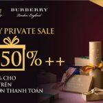 MB Private ưu đãi đặc biệt trong chương trình Burberry Private Sale