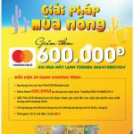 Giảm thêm 600,000 VND cho chủ thẻ OCB MasterCard mua máy lạnh Toshiba RAS-H10BKCVS-V tại Nguyễn Kim
