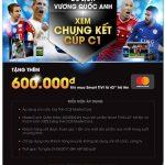 Giảm thêm 600,000 đồng cho chủ thẻ OCB MasterCard khi mua Smart Tivi từ 43 inch