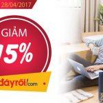 Ưu đãi 15% cho chủ thẻ Shinhan khi mua hàng tại Adayroi.com