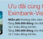 Ưu đãi cùng thẻ Eximbank-Visa Auto Card