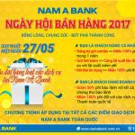 Hàng loạt ưu đãi trong Ngày hội bán hàng Nam A Bank 2017