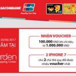 Chương trình khuyến mãi thẻ Sacombank Unionpay khi mua sắm tại The Garden Shopping Center