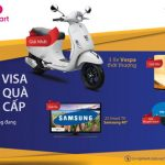 Mua sắm với thẻ Shinhan Visa tại Saigon Coopmart để có cơ hội trúng xe Vespa