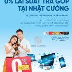 Mua hàng trả góp lãi suất 0% tại Nhật Cường Mobile bằng thẻ tín dụng quốc tế VietinBank