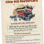 Mua 02 trả tiền 01 cùng thẻ OCB MasterCard qua ứng dụng Lotte Cinema