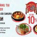 Giảm 10% tại chuỗi nhà hàng Saigon Center cho chủ thẻ MB JCB Sakura
