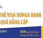 Quẹt thẻ Visa DongA Bank nhận quà đẳng cấp